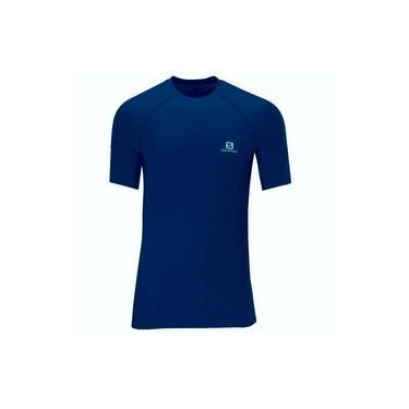 Camiseta Salomon Hybrid SS Masculino Azul