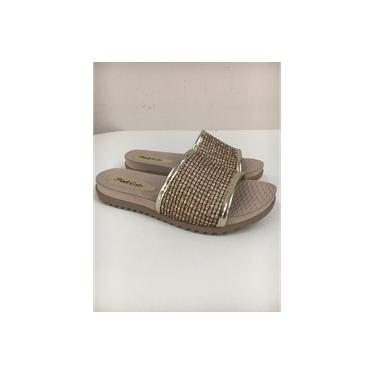 Chinelo Inf. Pink Cats Citizem Ouro-V0891-0005