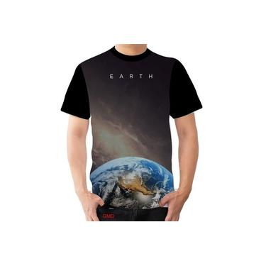 Camisa Camiseta Planeta Terra Espaço Globalista Earth