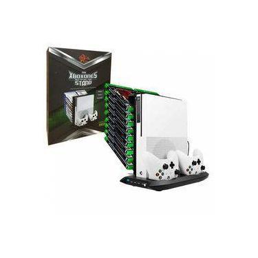 Suporte Base Vertical 4 Em 1 Console Xbox One X Com Cooler