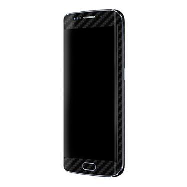 Skin Premium - Adesivo Fibra de Carbono Samsung Galaxy S6 Edge (Preto)