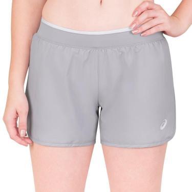 Shorts Asics Practice Feminino 2042A054-020, Cor: Cinza, Tamanho: P