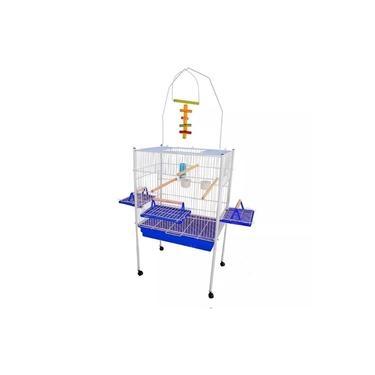 Viveiro para Calopsita Papagaio e outros Pássaros Jel Plast Triplex Azul