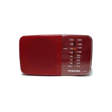 Radio Portatil Toshiba AM-FM TX PR20S Vermelho
