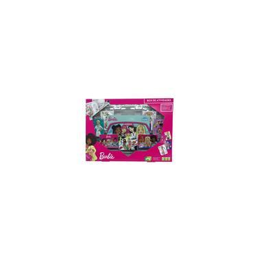 Imagem de Box De Atividade Barbie Jogo Brinquedo Carton Colorir Cartas