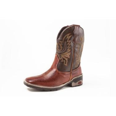 Bota Fran Boots Texana Country Cano Longo Marrom  masculino