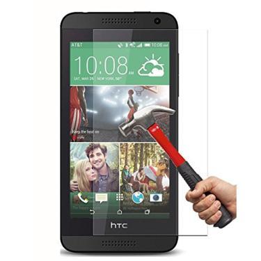 [2 unidades] Película protetora de tela HTC Desire 610, vidro temperado transparente, protetor de tela HD resistente a arranhões para HTC Desire 610