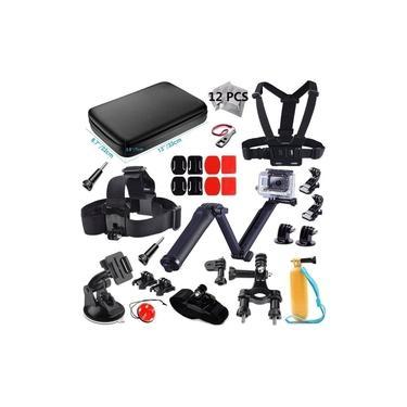 Kit Com Acessórios Para Gopro 2018 Black 3+ 4 5 6 7 Edition Silver 4 5 Session Plus Hero+ GoPro Fusion Edition Premium