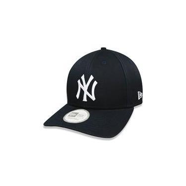Bone 9Forty Aba Curva Ajustavel Mlb New York Yankees Aba Curva Marinho New Era