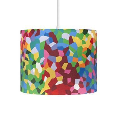 Pendente Lustre Sala Quarto Quarto Sala Mosaico Colorido Carambola