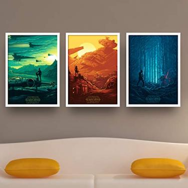Quadros decorativos Filme Star wars Geek 30x40cm vidro