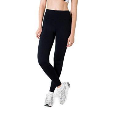 Calça Legging Preta com cintura alta Tamanho:GG;Cor:Preto