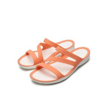 Sandália Crocs Tiras Laranja Crocs 203998-82Q feminino