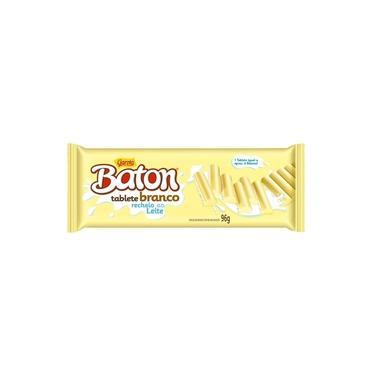 Chocolate Garoto Baton Tablete Branco Creme Rech. Ao Leite 10X96g
