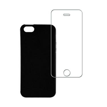 76414d98ba Kit Capa (+Película Vidro) para Apple iPhone SE 5 5S em
