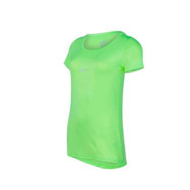 Speedo Basic Strech Camiseta de Manga Curta, Mulheres, Verde Limonada, GG