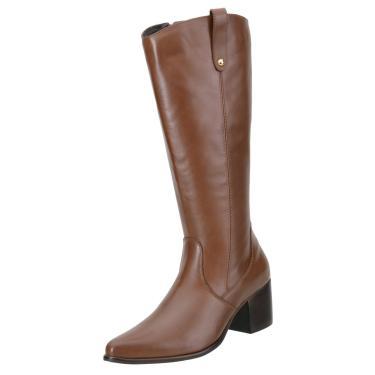 Bota Encinas Leather Montaria Caramelo  feminino