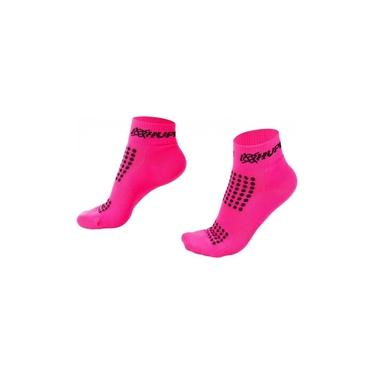 Meia Curta para Corrida HUPI - Running Pro Rosa Neon (36-42)