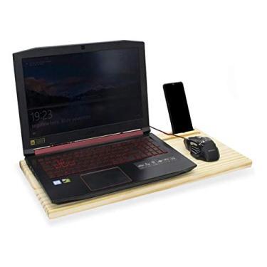 Apoio Mesa Suporte Madeira Base Para Notebook Laptop Cama Colo Saída de Ar Cooler