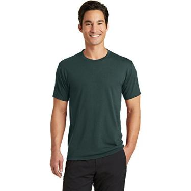 Camiseta Port & Company PC381 Blended Performance, Verde escuro, Pequena