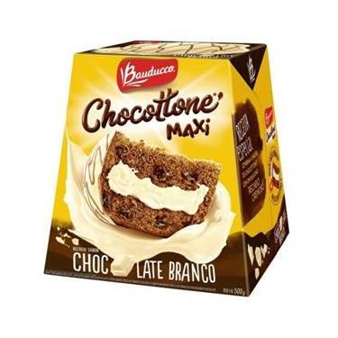 Imagem de Chocottone Maxi Chocolate Branco 500g 1 UN Bauducco