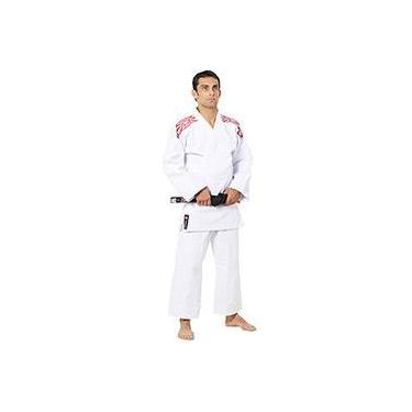 Kimono Judô Trançado Série Prata Branco