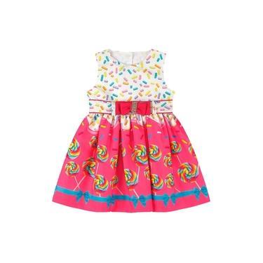 Vestido Infantil Essência Viva Delícias Da Infância Rosa
