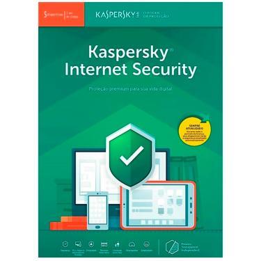 Kaspersky Internet Security Multidispositivos - Licença de 1 ano - para 5 Dispositivos - Versão Down