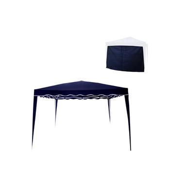 Imagem de Kit Tenda Gazebo 3x3m Articulado Sanfonado Azul + Parede Trixx Azul Nautika