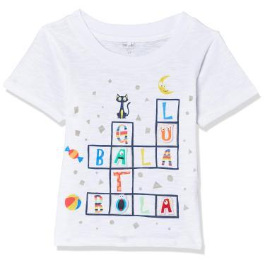 Camiseta Bala Bola, Tip Top, Meninos, Branco, 1T