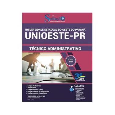 Imagem de Apostila Unioeste Pr - Técnico Administrativo - Paraná