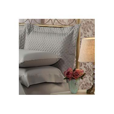 Imagem de Fronha Para Travesseiro 50x90Cm Matelasse Soft Touch Cinza Plumasul