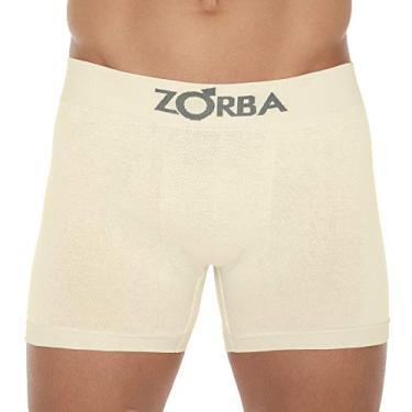 Cueca Boxer Zorba Algodão Sem Costura 781 G Amarelo