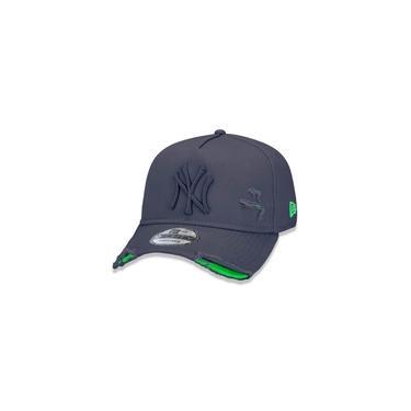 Bone 9forty A-frame Aba Curva Ajustavel Mlb New York Yankees Aba Curva Cinza New Era