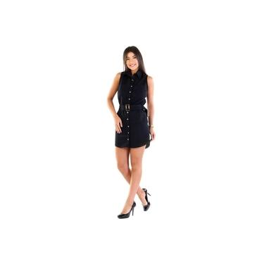 Vestido Sarja Sawary Feminino Preto