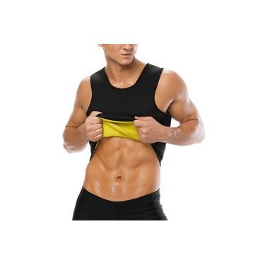 Camiseta Cinta Modeladora Neoprene Masculina Ação Térmica Queima Gordura Redutor Academia Treino