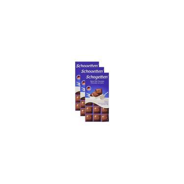 Kit Chocolate Schogetten Ao Leite 3 Unidades 100G Cada