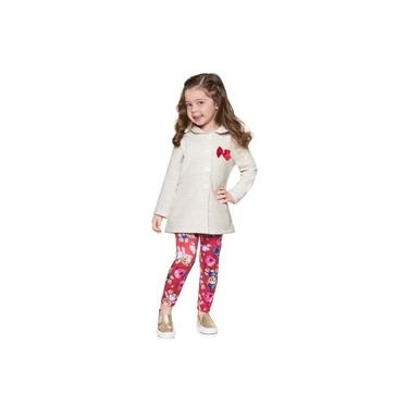 Conjunto Casaco e Calça Legging Infantil Inverno Feminino Para Menina Brandili - Ref. 53475