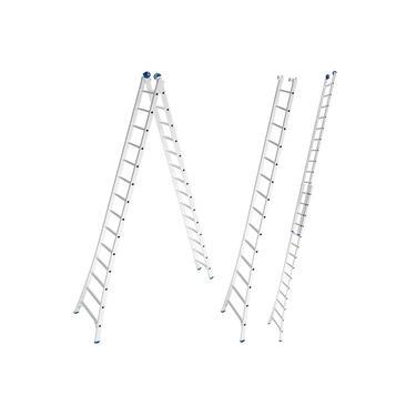 Escada de Alumínio Extensiva 2 x 14 Degraus 4,21 x 7,01 Metros MOR