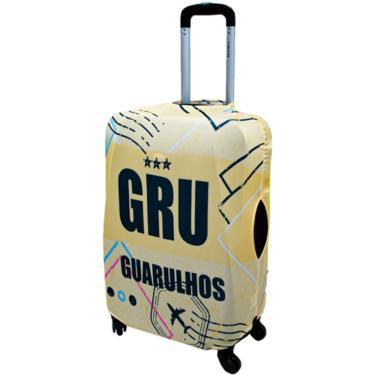 Capa Para Mala De Viagem Média Pequena Bordo Pp Guarulhos ys27076