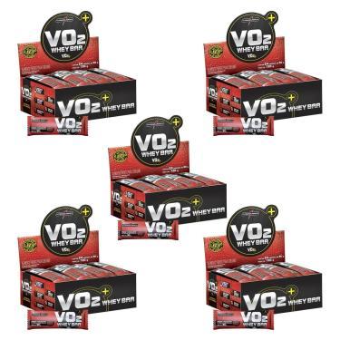 Kit 5X VO2 PROTEIN BAR - 24 Unidades 30g Chocolate - IntegralMédica