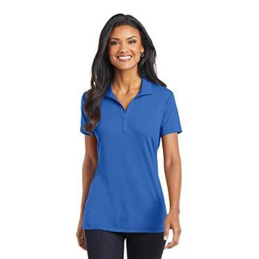 Camisa polo de algodão Touch Performance (L568) azul forte, PP