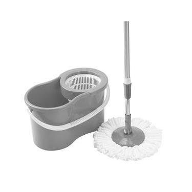 Mop Spin 360° Giratório Esfregão Balde Limpeza - Clink