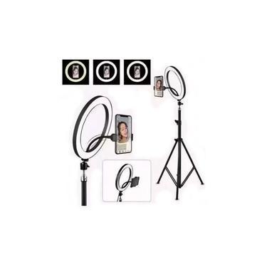 Iluminador Ring Light Youtuber Maquiagem 10 Polegadas 26cm Usb Led Tripé