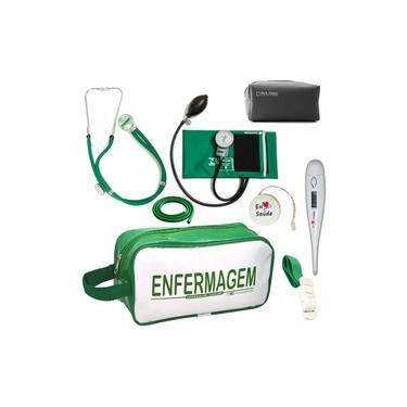 Kit De Enfermagem Completo - Verde Enfermagem PA MED
