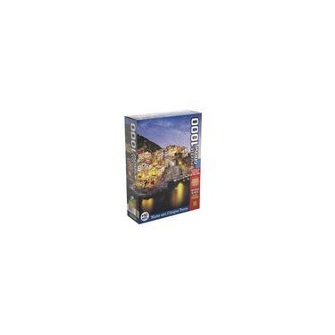Imagem de Quebra-Cabeça 1000 Peças - Noite em Cinque Terre - Grow