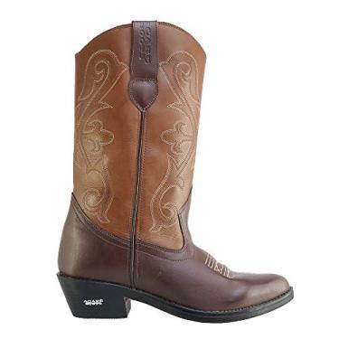 Bota Texana Hb Agabe Boots 200.004 - Lt Cafe+marrom - Solado de Couro com Borracha Bota Texana Hb Agabe Boots 200.004 - Lt Cafe+marrom - Numero:45