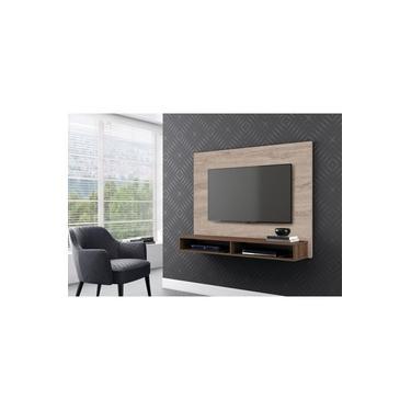 Painel Bancada Para Tv 55 Pol. Carvalho Viena/Malte Charme Profissional Decor