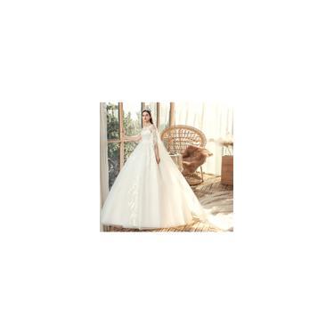 Imagem de Vestido longo Plus Size branco de Noiva Casamento requintados C13
