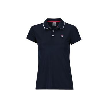 Camisa Polo Fila Aztec Box - Feminina - AZUL ESCURO Fila 7ec997b2b1bbc